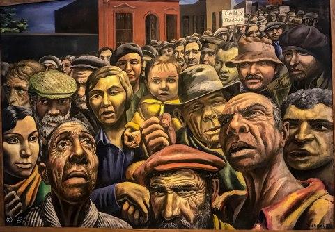 Manifestación 1934. Pintura s¡de Antonio Berni. MALBA. Buenos Aires. Argentina 2017.