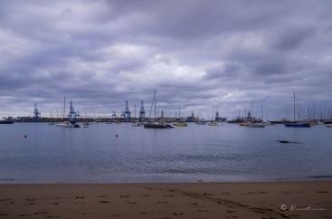 Playa de Las Alcaravaneras. Las Palmas de Gran Canaria. Islas Canarias.